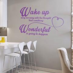Zidna naljepnica – Wake up every morning