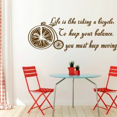 Zidna naljepnica – Life is like a riding