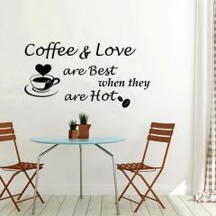 Zidna naljepnica – Coffee & Love