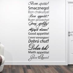Zidna naljepnica –  Bon appetit dobar tek