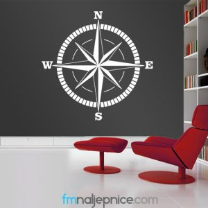 Zidna naljepnica – Kompas