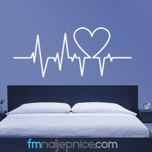 Zidna naljepnica – Ritam srca