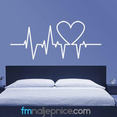 Zidna naljepnica - ritam srca