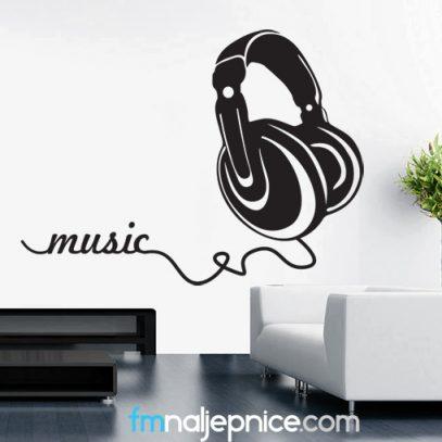 Zidna naljepnica Music