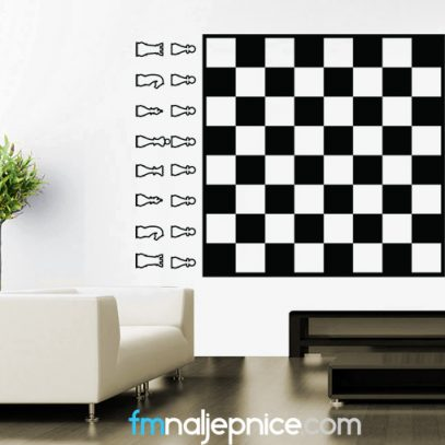 Zidna naljepnica Šah