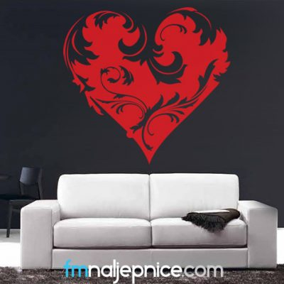 Zidna naljepnica – Srce art