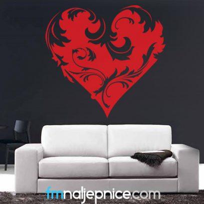 Zidna naljepnica - srce