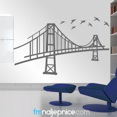Zidna naljepnica – Most s pticama