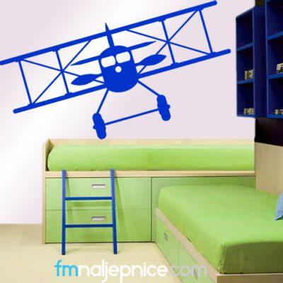 Zidna naljepnica – Avion retro
