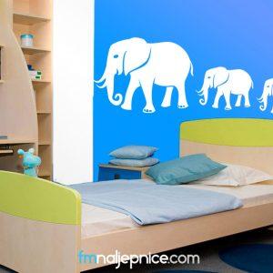 Zidna naljepnica - slonovi
