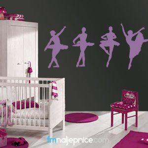 Zidne naljepnice - balerine