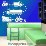 Zidna naljepnica - kamiončići