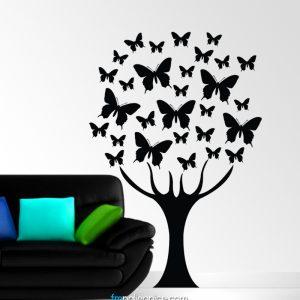 Zidna naljepnica – Drvo leptira