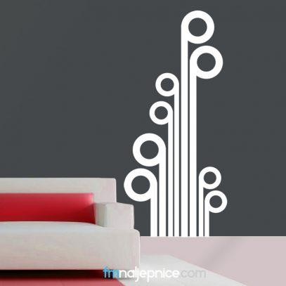 Zidna naljepnica abstract