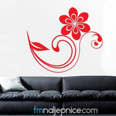 Zidna naljepnica - cvijet