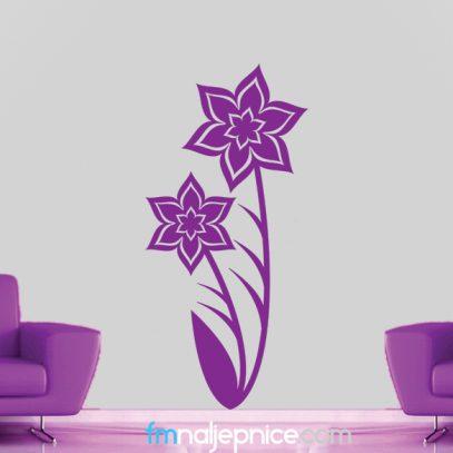 Zidna naljepnica - cvjetovi