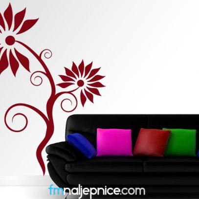 Zidna naljepnica - bodljikavi cvijet