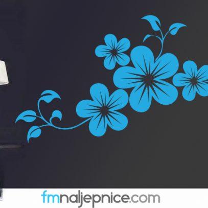 Zidna naljepnica - cvjetovi na grani