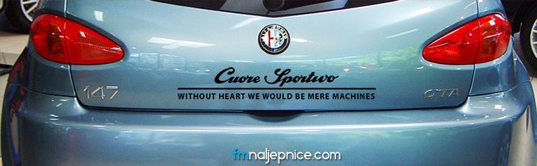 Alfa Romeo Cuore Sportivo slogan
