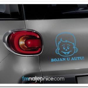 Naljepnica Beba u autu za dečke s Vašim imenom