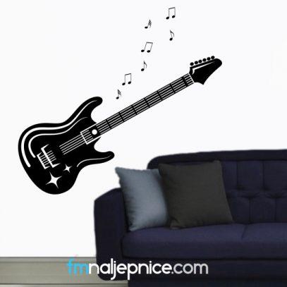 Zidna naljepnica gitara