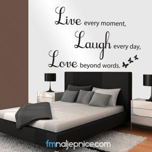 Zidna naljepnica -Live every moment