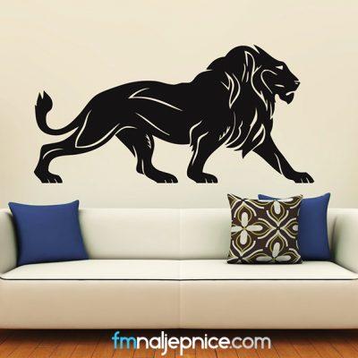 Zidna naljepnica - Lav u pokretu