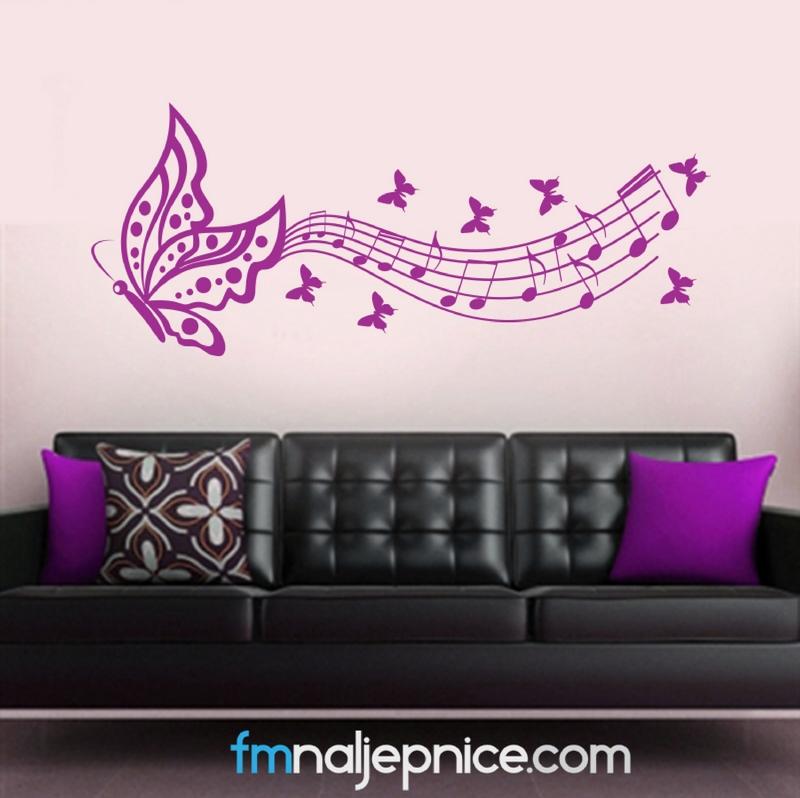 Zidna naljepnica leptir