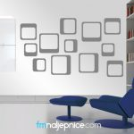 Zidna naljepnica - kvadrati