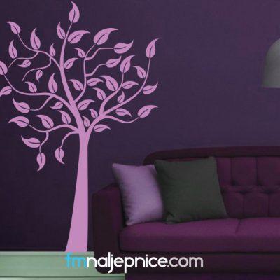 Zidna naljepnica – Drvo s lišćem