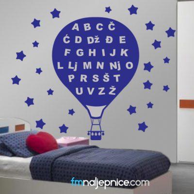 Zidna naljepnica –  Dječja abeceda