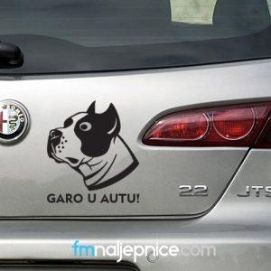 Naljepnica Pas u autu za Vašim imenom 1