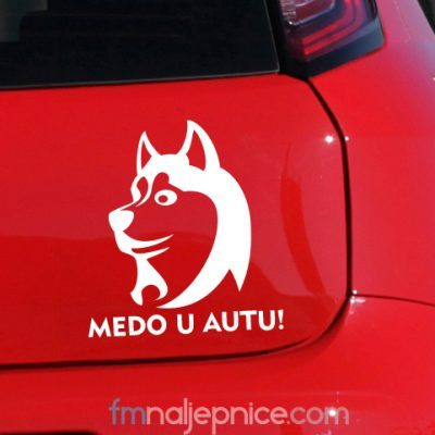 Naljepnica Pas u autu za Vašim imenom 2