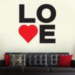 Zidna naljepnica Love
