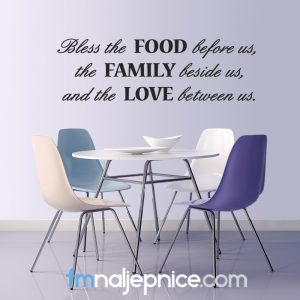 Zidna naljepnica Bless the food