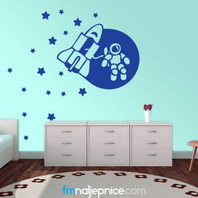 Zidna naljepnica Svemir