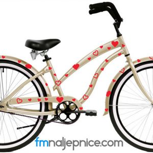 Naljepnice za bicikl – Srca- set 100 kom