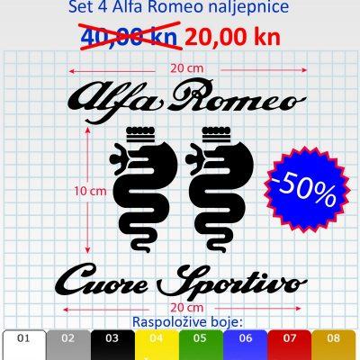 Alfa Romeo set naljepnica