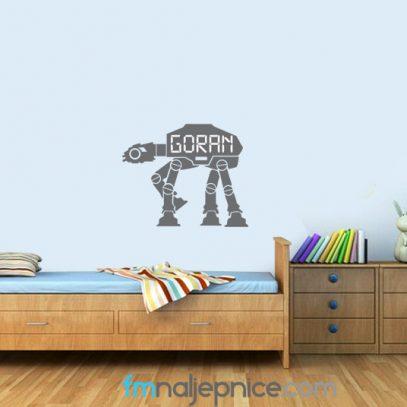 Dječja zidna naljepnica robot