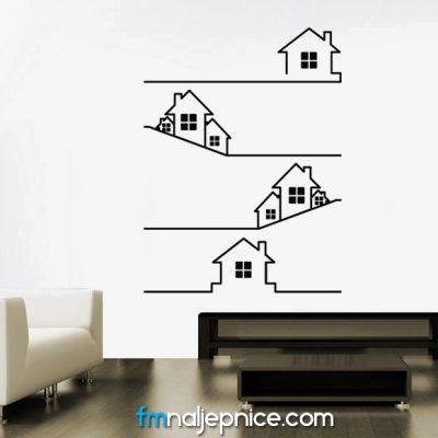 Zidna naljepnica - Kućice