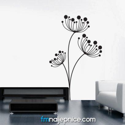 Zidna naljepnica cvjetovi