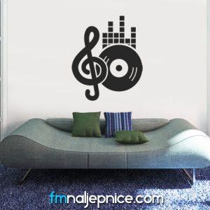 Zidna naljepnica Music 3