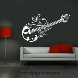 Zidna naljepnica – Art gitara