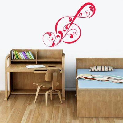 Zidna naljepnica – Violinski ključ