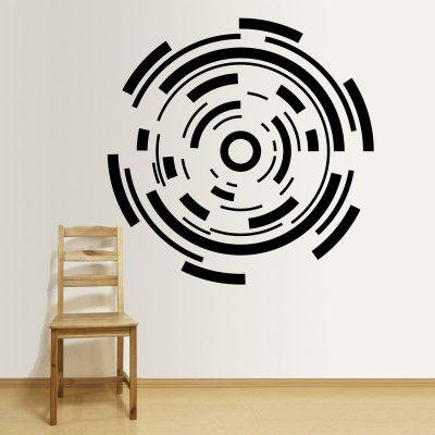 Zidna naljepnica – Elementi krug
