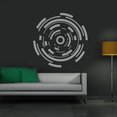 Zidna naljepnica elementi krug