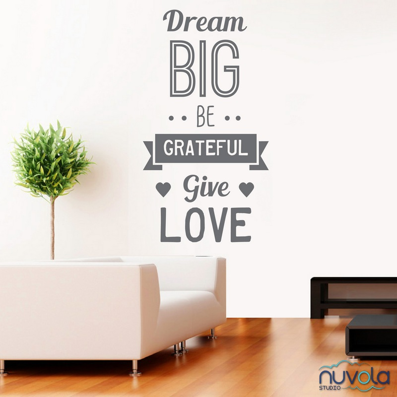 Dream Big zidna naljepnica