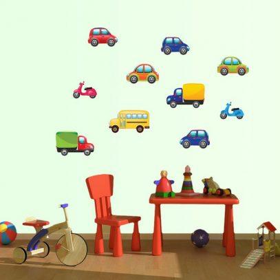Zidna naljepnice automobili, autici, za djecu, auto