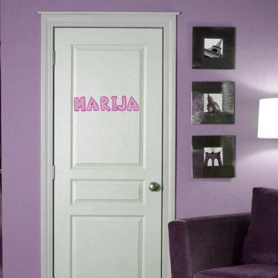 Ime za vrata, naljepnica za vrata,