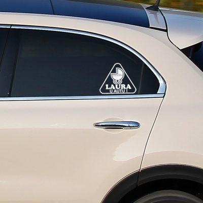 Naljepnica Beba u autu – kolica